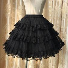 Sweet Lolita Three Layer Lace Petticoat Tutu Skirt Short Dress Cute White/Black