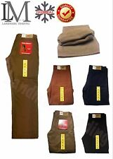 Mens Winter Cotton FIeece Lined Cargo Combat Work Pockets Long Pants Trousers