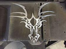 Deer Skull    Metal Wall Art Decor Man Cave hot rod sign custom wicked evil