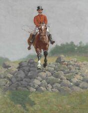 Remington Frederic A Hunting Man Canvas 16 x 20   #3322