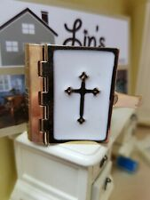 Streets Ahead Dolls House Accessory 1:12th Scale Metal Bound Large Bible D331