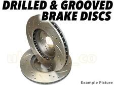 Drilled & Grooved FRONT Brake Discs For SUBARU LIBERO Bus 1.2 i 4WD 1991-93