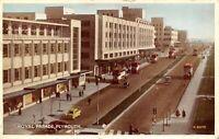 Vintage 1958 Postcard, Royal Parade Plymouth Devon, Vintage Cars Buses 73W