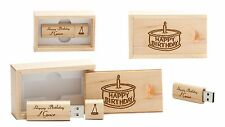16 GB Personalised USB Memory Stick in  Engraved Wooden Box