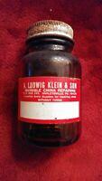 vintage bottle color preserver A. Ludwig Klein & Son