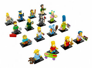 LEGO Minifigures SIMPSONS Series 1 S1 Complete Set of 16 #71005