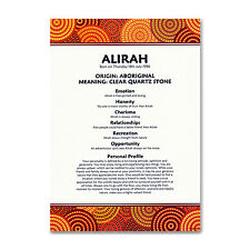 FIRST NAME MEANING PRINT Personalised Birthday Gift - Aboriginal Tribal Design