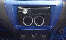 Fibra De Carbono efecto Single Din Radio Twin 52mm Calibre Pod Panel, Facia Panel