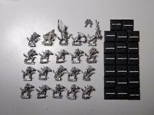 Warhammer Lizardmen- 20x Skinks. Full Command. Classic metal. OOP