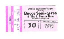 Bruce Springsteen Concert Ticket Stub Richfield Coliseum 7/30/1981 Ohio