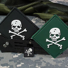 3 PCS SKULL FLAG TACTICAL US USA ARMY MORALE 3D PVC RUBBER PATCH BADGE