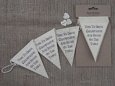 VINTAGE wedding bunting Ghirlanda Shabby Chic Venue Home Decoration East of India