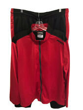 AND1 Red Black Track Suit Matching Jacket + Pants Basketball - Size 2XL