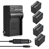 8800mAh NP-F970 NP-F960 Battery + AC Wall Charger for Sony NP-F770 F570 NP-F550