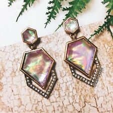Geometric Iridescent Foil Dangle Earrings