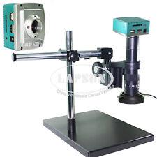180X 1080P HDMI HD USB C-mount Lens Microscope Camera Video Recorder Stand Set