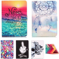 Magnetic Flip Folio Pattern Folding TPU + PU Leather Case Stand Cover For Tablet