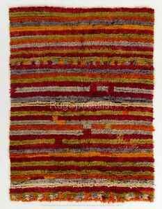 Contemporary Red, Green, Blue and Gray Moroccan Rug, CUSTOM OPTIONS Available