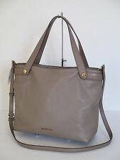 NEW Michael Kors Hyland Dark Dune Leather Large Tote Handbag