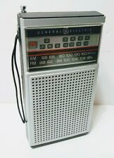 VINTAGE GENERAL ELECTRIC Transistor Radio Model 7-2924A AM/FM/TV WORKS GREAT