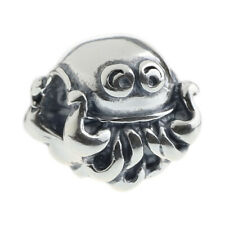 GUARANTEED Genuine .925 Sterling Authentic Silver Charm Squid
