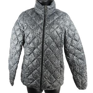 32 Degrees Heat Gray Zip Up Thin Puffer Coat Women's Size XS