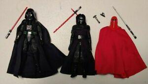 Star Wars Black Series Lot of 3 Darth Vader Kylo Ren Emperor's Royal Guard