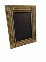 "Williamsburg Solid Ornate Brass Photo Picture Frame  9""x7"""