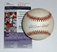 1957 BRAVES Del Crandall signed baseball JSA COA AUTO Autographed Milwaukee