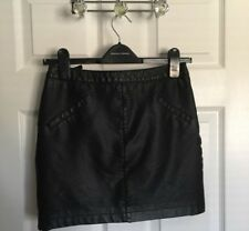 Dorothy Perkins Black Leather Skirt Size 8