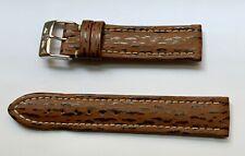 Breitling Brown Shark Skin Leather 18mm Strap NOS