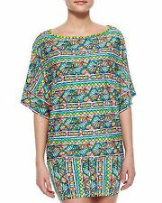 Trina Turk Swimsuit Bikini Cover Up Dress Sz S Multi i13