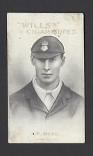 WILLS (AUS) - AUSTRALIAN & ENGLISH CRICKETERS (VR, 59) - #53 P MEAD, HAMPSHIRE