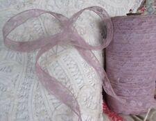 """Antique Valenciennes Lace Trim Cotton 5/8""""Wide By the Yard Lavender Lilac Purple"""