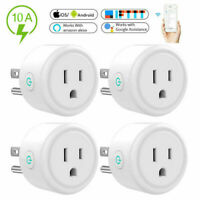 4Pack Wifi Smart Plug Switch Wireless Socket Outlet Voice Control For Alexa Echo