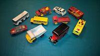 Lot of (10) 70's-90's Vintage Diecast Matchbox Cars & Vehicles - Lledo Coca Cola