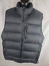 LL Bean Mens Goose Down Puffy Vest Black L Winter Hiking Puffer Full Zip