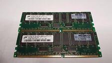 1gb 512mb x 2 ddr 200 Micron MEMORY RAM mt18vddt6472g-202g1 175918-042 CL2 ECC