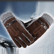 Winter Ski Warm Thicken Gloves Unisex Leather Cold-proof Cycling Driving Mittens