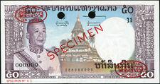 Laos 50 Kip ND(1963) P12s2 UNC - SPECIMEN with oval TDLR