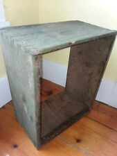 VTG ANTIQUE GREEN WOOD BEE KEEPING HIVE FRAME APIARY SHADOW BOX FARM DECOR