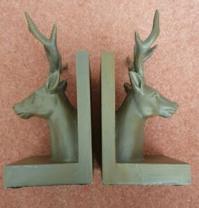 Set Of Rustic Looking Stag Bookends
