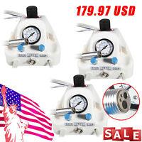 3 Sets USA Stock Portable Dental Turbine Unit Work with Air Compressor 4 Hole