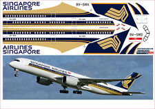 1/144 Airbus A-350 SINGAPORE AIRLINES PAS-Decals for Revell model kit