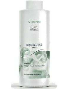Wella Professional NutriCurls Shampoo for Waves Hair 1000ml SUPERSIZE
