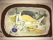 George Braque, Horse And Chariot 2, Original Mourlot Lithograph 1955