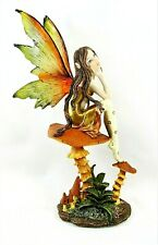 Fairy in Mushroom garden mythical fantasy decor figurine