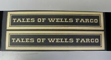 MARX CROOKS TALES OF WELLS FARGO DECALS FOR TENDER (STK21) NEW