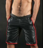 Men's Lamb Leather Basketball Shorts Real Leather Sports Shorts