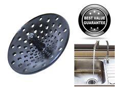 Modern Plastic Black Finish Kitchen Sink Drain Mesh Strainer 3-1/4
